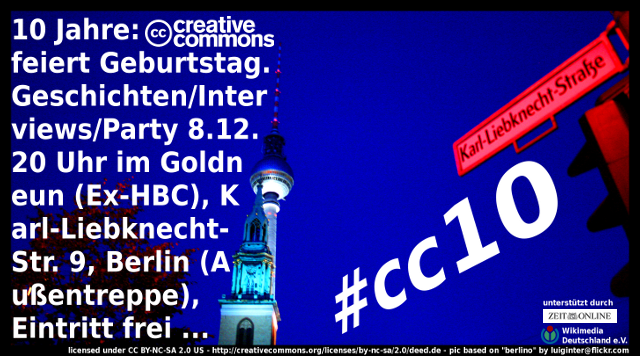 "CC10 Berlin Flyer - Lizenz: CC BY-NC-SA 2.0 US, based on ""berlino"" by luiginter@flickr.com"