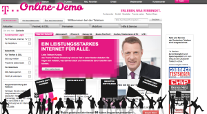 Online Demonstration on Telekom.de