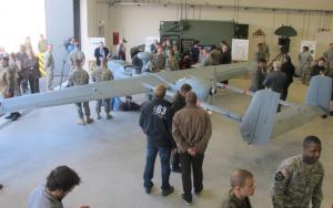 Drohnen-Streicheln am vergangenen Dienstag in Vilseck