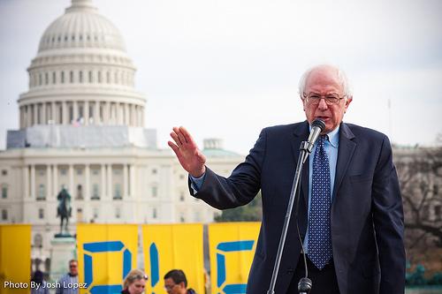 Unabhängiger US-Senator Bernie Sanders CC-NC-SA 2.0 via Flickr/350org