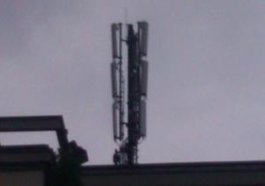 Mobilfunkantennenanlage in der Großenhainer Straße in Dresden. Alle Handys, die hier kommuniziert haben, wurden überwacht.