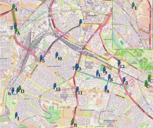 Funkzellenabfragen am 19. Februar 2011 in Dresden. © OpenStreetMap contributors.