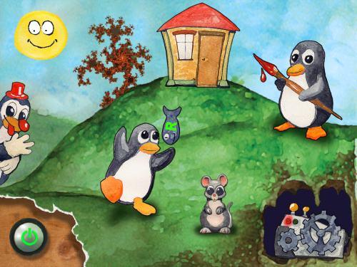 Linux cd die speziell für kinder ab drei jahren konzipiert wurde